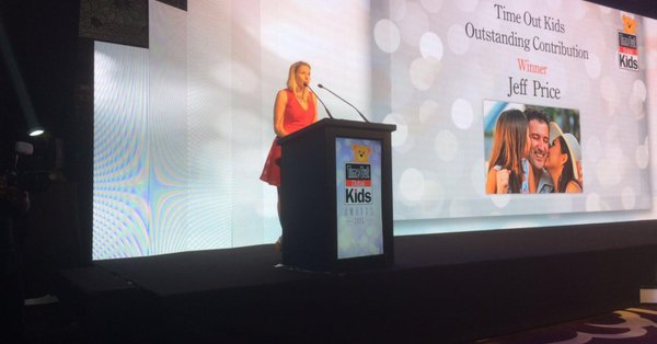 Emma Presenting at the Time Out Kids Awards, Dubai, 2016