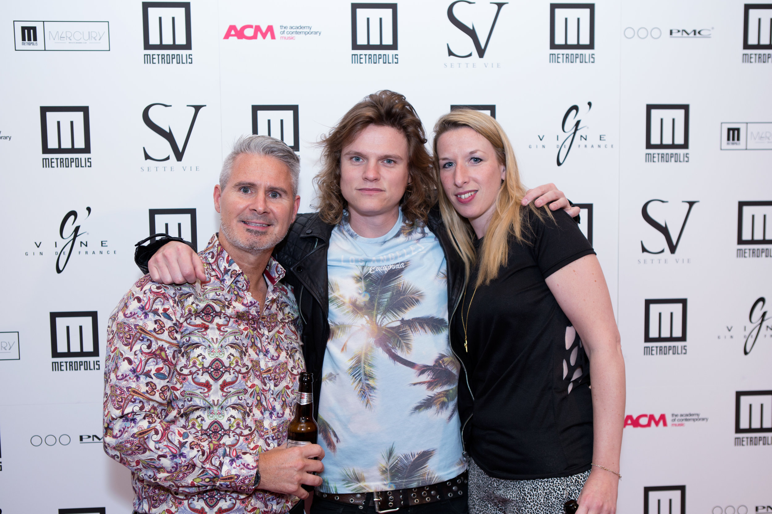 Emma with John Stretford & Johnny Lucas at the Metropolis Studios 25th Birthday Party