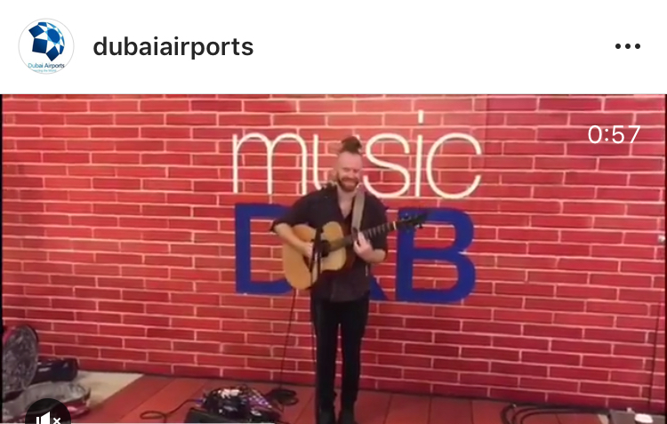 Newton Faulkner lights up the Dubai Airport #musicdxb stage