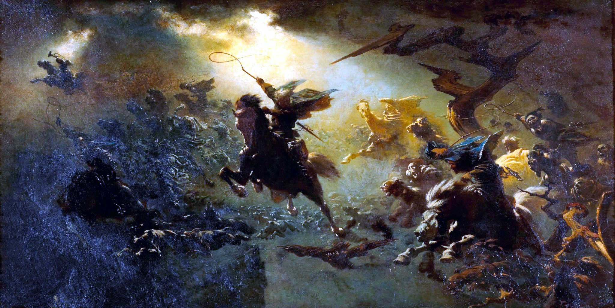 'The Wild Hunt' ~ Johann Wilhelm Cordes