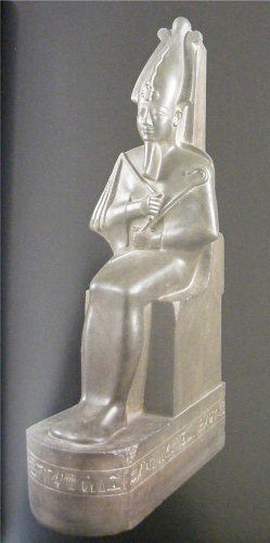 Osiris seated