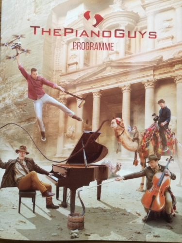 The Piano Guys Concert Programme, which is also the cover of their album 'Uncharted'
