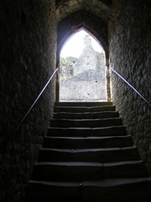 Steps at Chepstow Castle