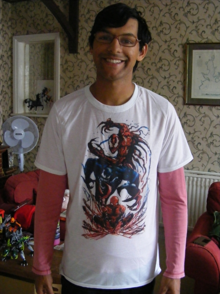 Treated him to this t-shirt - Spidey is his all-time favourite superhero