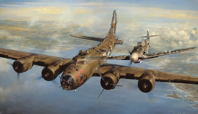 'A Higher Call' ~ painting by John D Hall depicting the incident