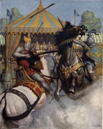 'Lancelot defeats Sir Mador'
