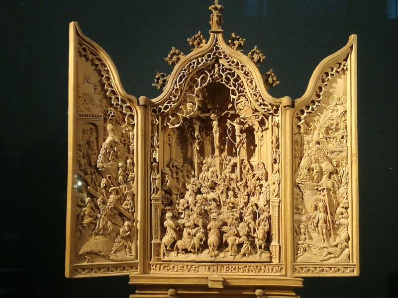 Miniature altar piece - detail