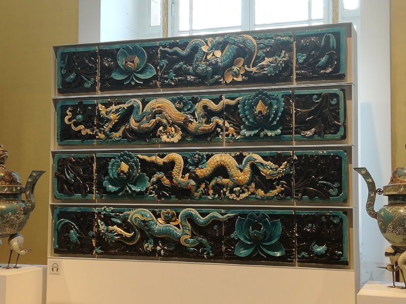 Ming Dynasty dragon wall tiles