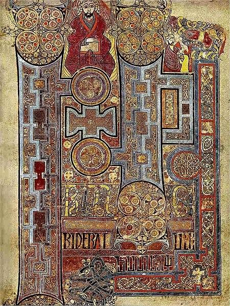Book of Kells, text that opens Gospel of John
