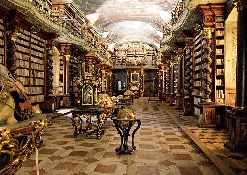 Clementinum National Library, Baroque Library hall (photo credit: Bruno Delzant)