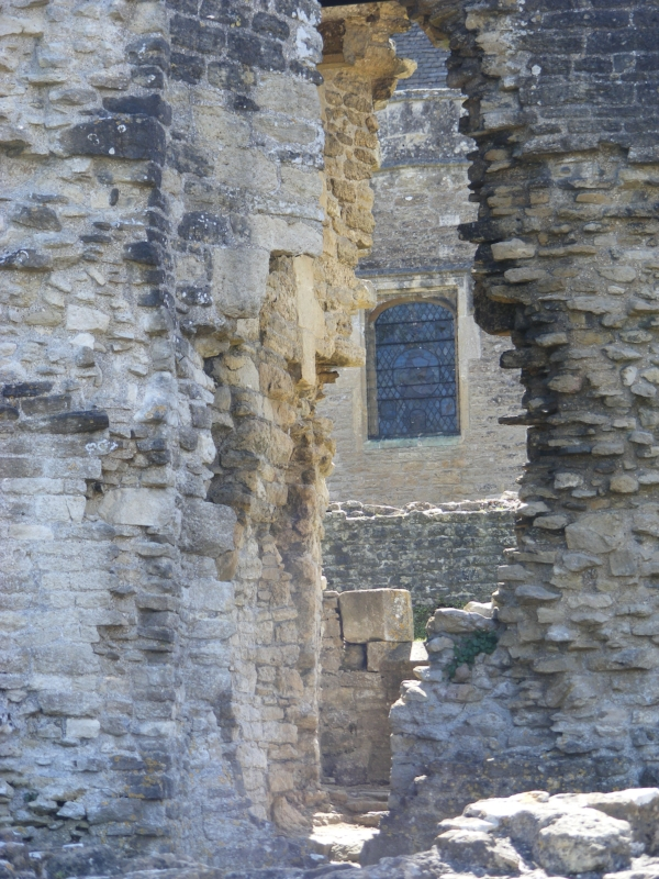 Part of the castle ruins