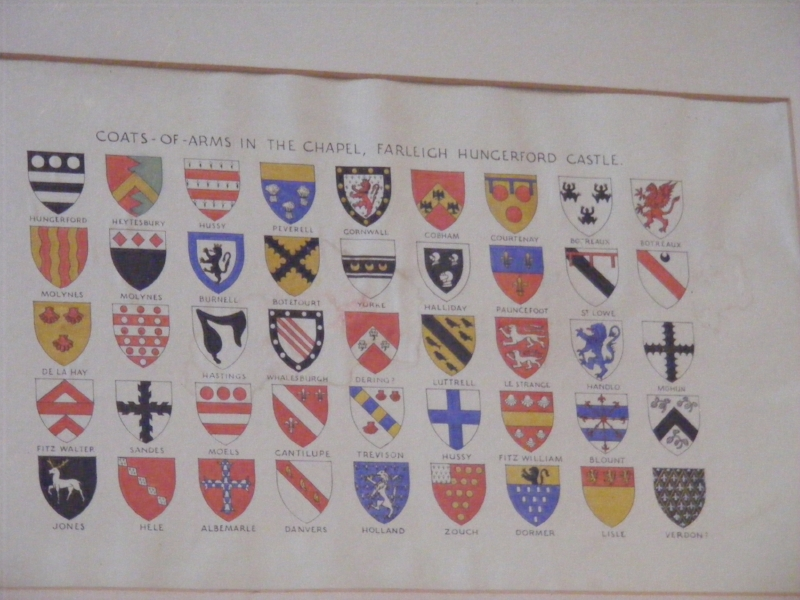 Coats-of-Arms in chapel