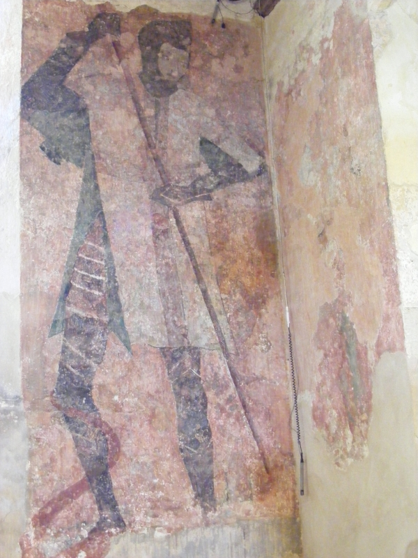 Wall painting of St George