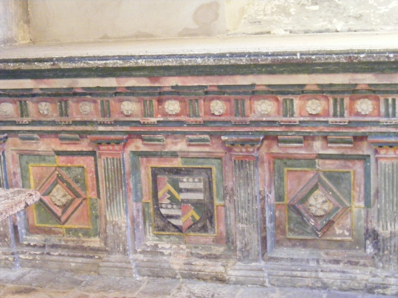Carved and painted tomb of Sir Walter Hungerford IV and his son Edward