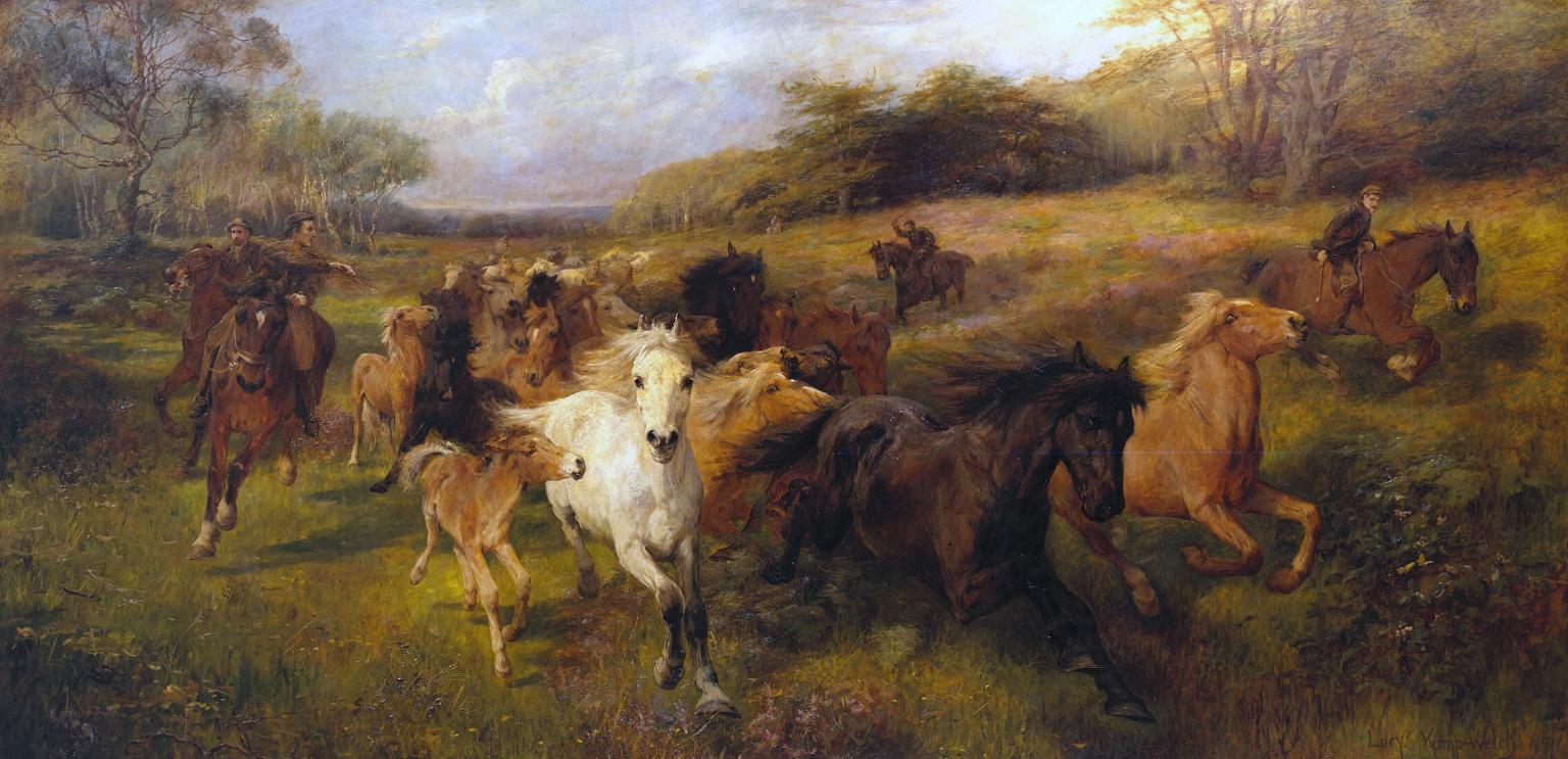 'Colt Hunting in the New Forest'
