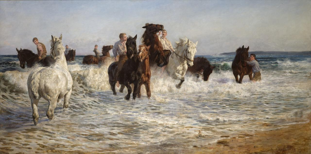 'Horses Bathing in the Sea' (1899)