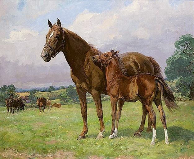 (mare and foal)