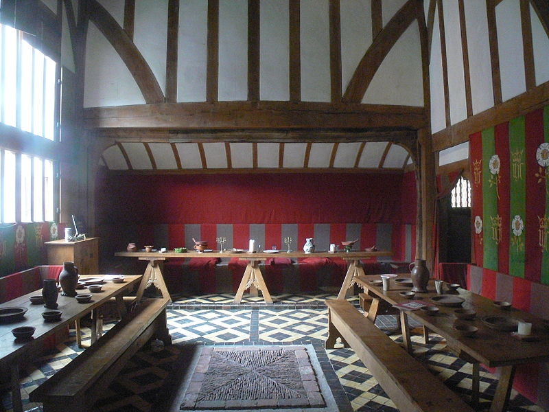 Barley Hall, York - restored to replicate its appearance in late 15th century (wikipedia - 'Fingalo' Christian Bickel)