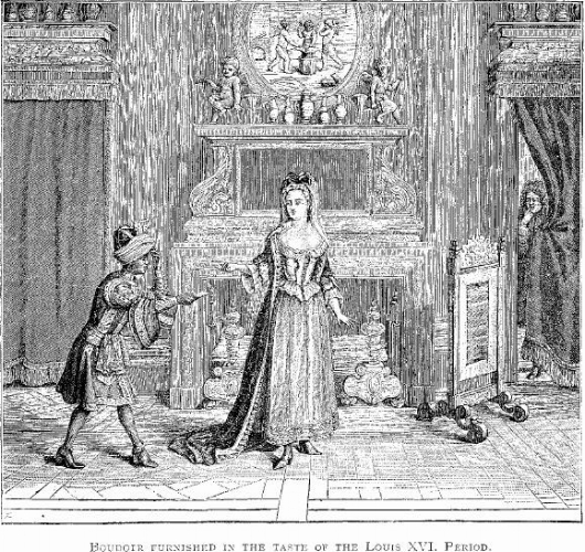 Illustration from 'Illustrated History of Furniture, From the Earliest to the Present Time' (1893) by Frederick Litchfield