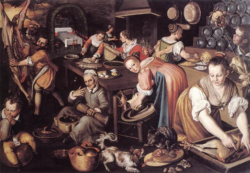 'Kitchen' ~ Vincenzo Campi (1580s)
