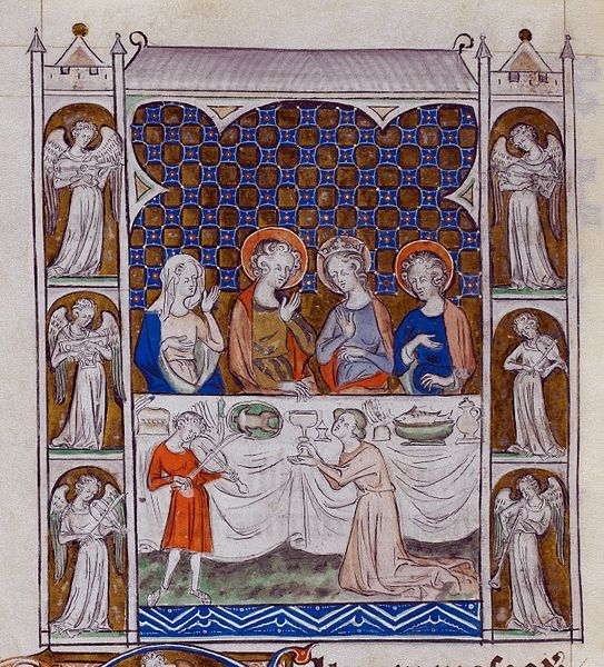 'Queen Mary Psalter - Marriage Feast at Cana' 1320 (Wikimedia Commons)