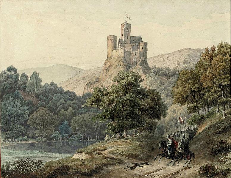 'Knights on Their Horses' ~ Friedrich Heunert (1836)
