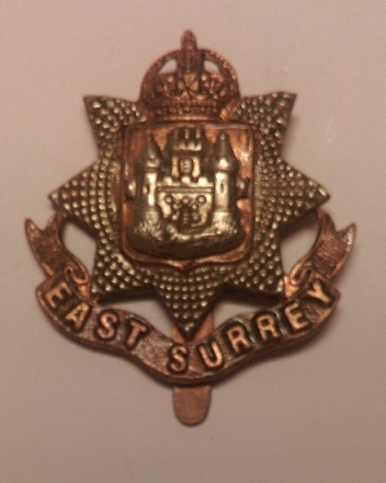 East Surrey Regiment Cap Badge (personal collection) - Wikipedia - Dormskirk (own work)