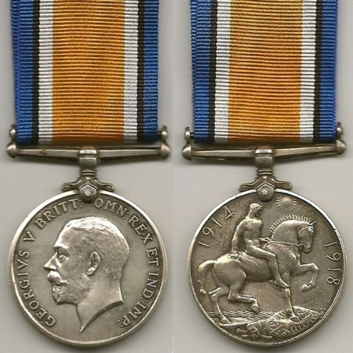British War Medal - Wikipedia (image created by Col André Kritzinger)