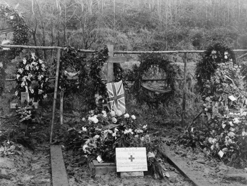 Edith Cavell's grave in Brussels [© IWM (E(AUS) 4088)]