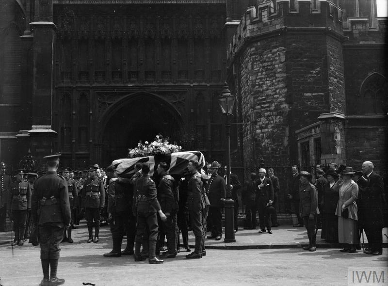 Leaving Westminster Abbey after the service for the journey to Norwich [© IWM (Q 66253)]