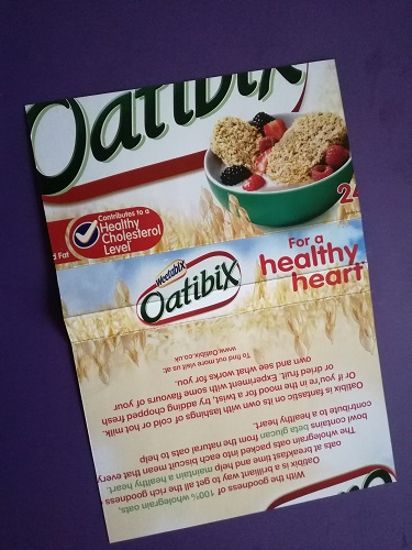 Cereal box for notebook cover
