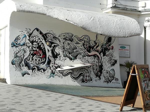 Restaurant graffiti
