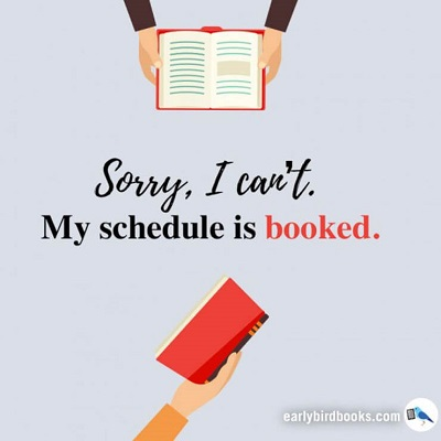 'My schedule is booked' meme