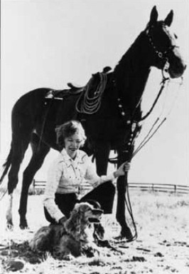 Velma Bronn Johnston - image courtesy of    International Society for the Protection of Mustangs and Burros (ISPMB)