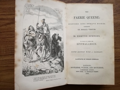 Title page of 'Faerie Queene'