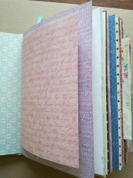 Completed journal pages