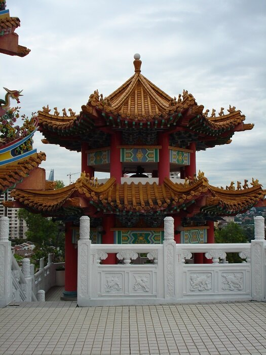 The upper level of the Kuan Yin Temple