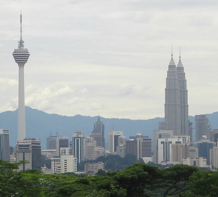 The KL Tower and the Petronas Towers