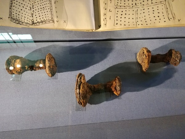 Ship rivets found by Basil Brown