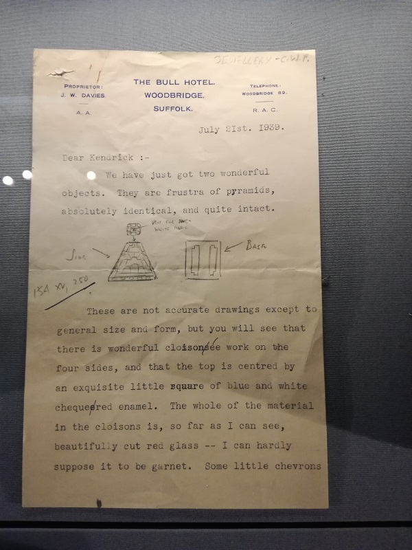 Letter from Charles Phillips describing the pyramid-shaped items