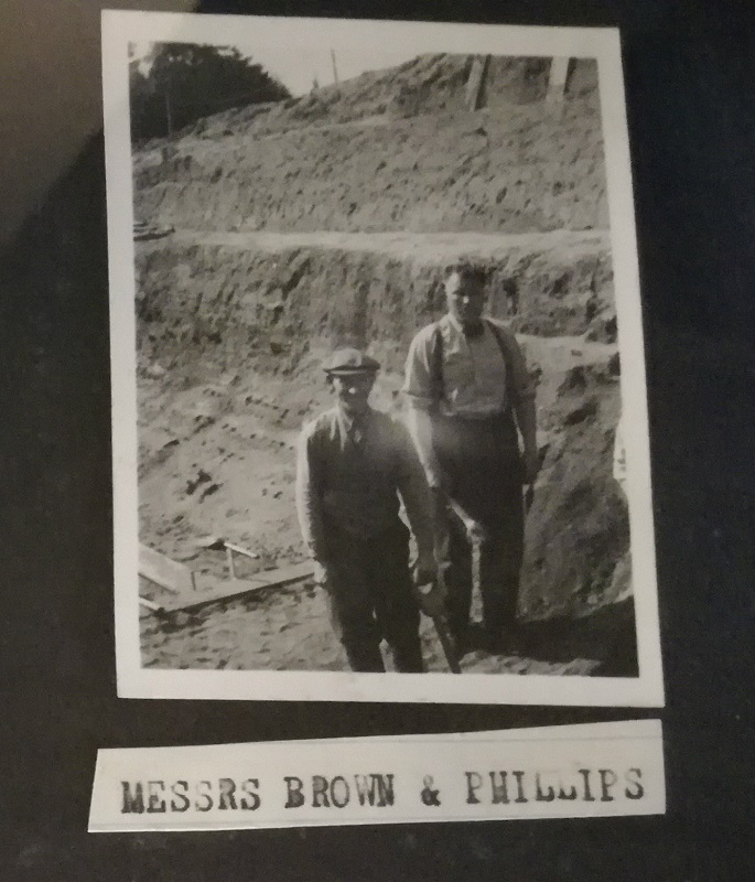 Basil Brown and Charles Phillips at the dig site