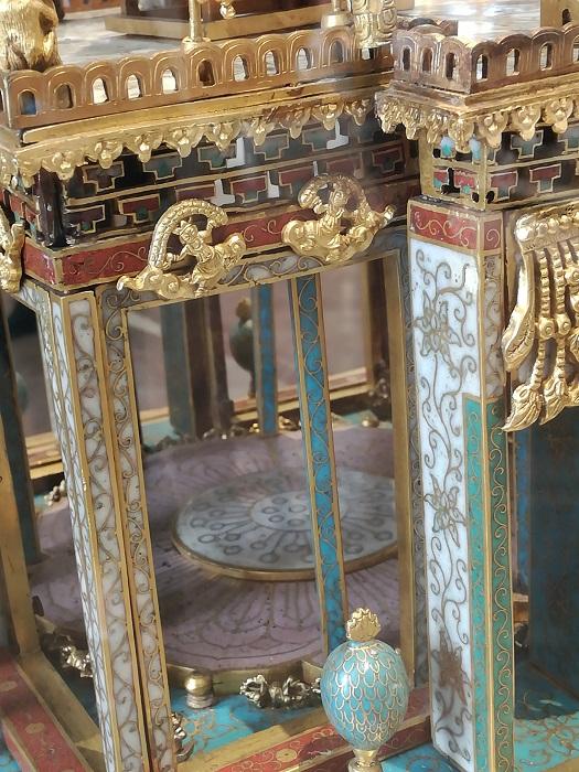 Cloisonné mandala - where the statue of the Buddha was originally housed
