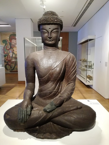 Iron Buddha statue from the Goryeo period AD900-1000