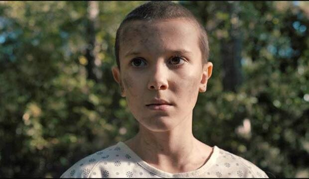 Eleven (played by Millie Bobby Brown)