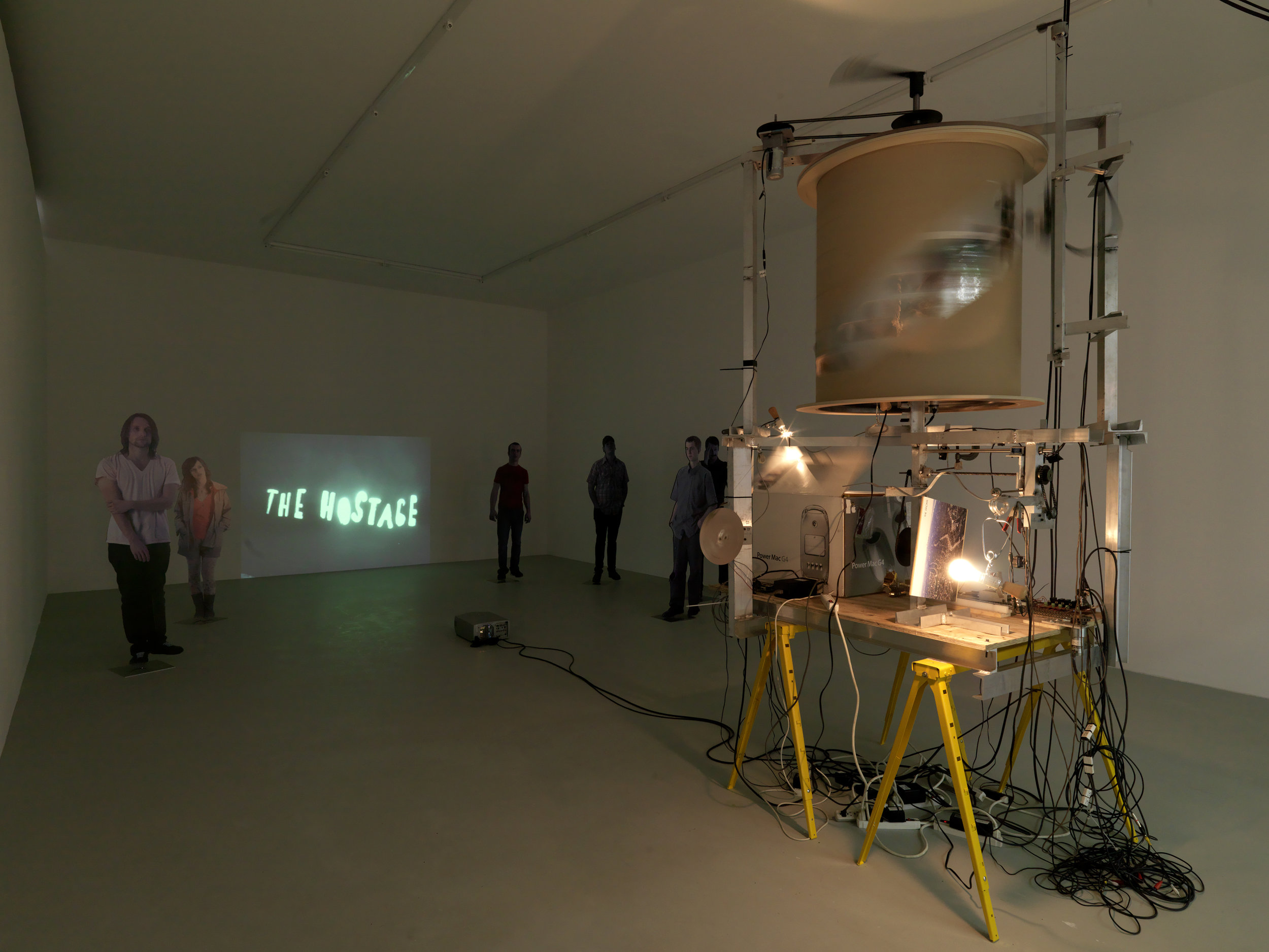 "Paris     ""Neïl Beloufa: The enemy of my enemy""    In his videos embedded in sculptural environments, as well as in his first feature film,  Occidental  (2017), Neïl Beloufa has made a strategy of sidestepping expectations to redirect attention to structural questions of politics and power. Here, Beloufa ups the ante of his culture jamming to expose the discourses and strategies of modern propaganda across the board, from Far Left to Far Right. The clincher is that the exhibits—including artifacts such as a baseball signed by Tony Blair, loans from museums of military history, and artworks by the likes of Gustave Courbet and Thomas Hirschhorn, as well as by Beloufa himself—are installed on robotically controlled display units. The automated rearrangement of these displays continuously makes and unmakes the connections between them, forcing a literal and metaphorical repositioning of the viewer in relation to the panoply of competing ideological agendas that define our time, and the art made within it.   —  Alexander Scrimgeour    Source:  https://www.artforum.com/print/previews/201801/neil-beloufa-the-enemy-of-my-enemy-73289"