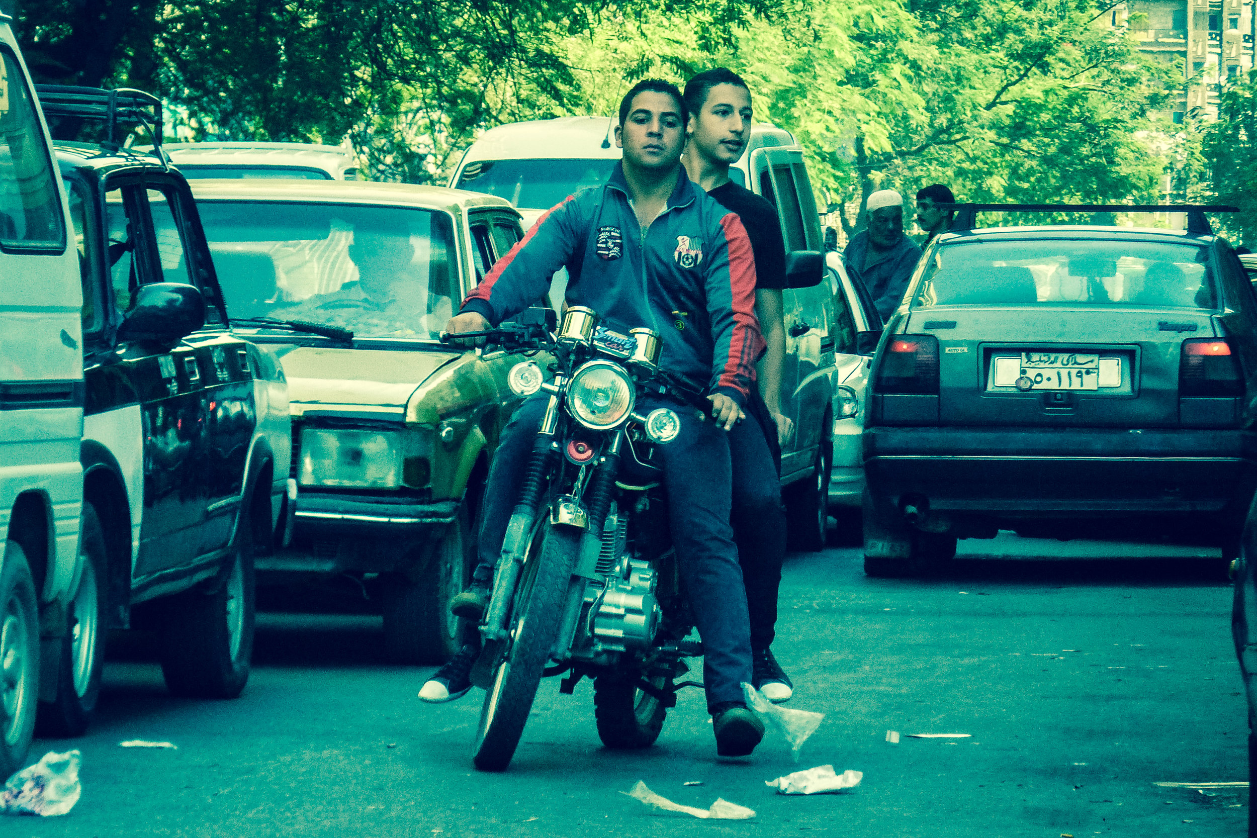 Bikers in Cairo