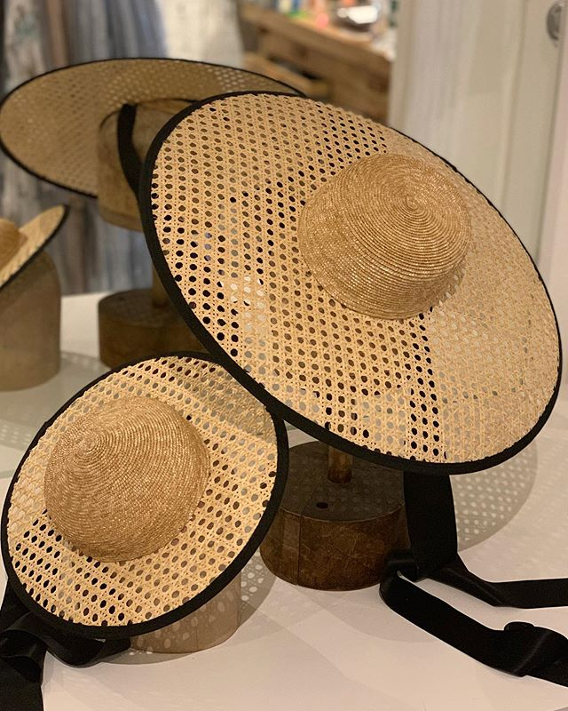 🌸Mother and daughter hats. 🌸They are made out of caning and have a silk chin straps. #behidadolic #behidadolicmillinery #fashion #hats #hudson #summer #summerhats #ss19 #style #fashionweek #linendress #silk