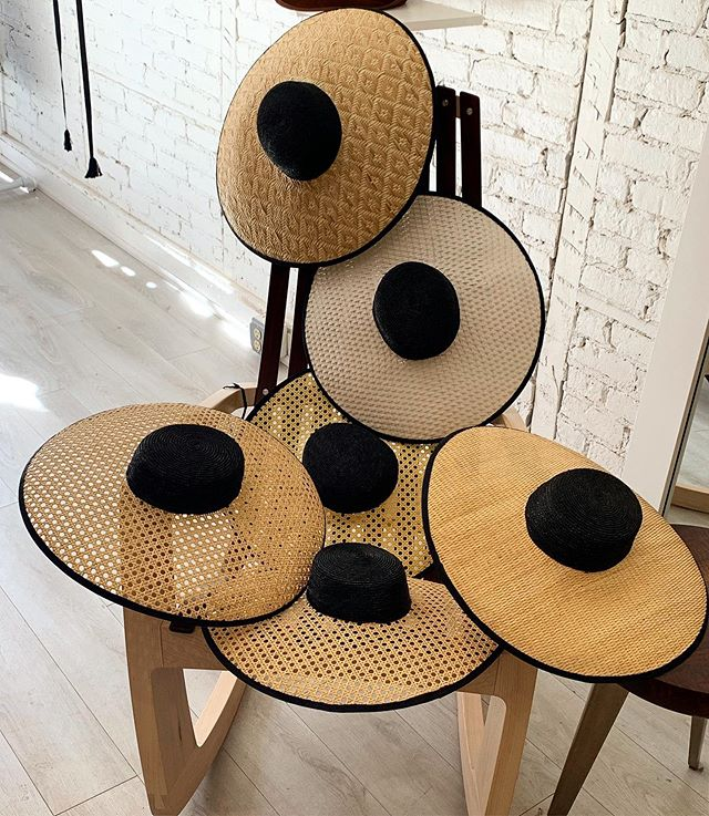 Caning hats resting on a very glamorous handmade chair by @jrusten ♥️👒 Caning is typically used in furniture making. But, it sure makes beautiful hats also:) #handmade #hats #summerhats #fashion #art #hatlover #behidadolicmillinery #behidadolic #beachhat #style #summerhat