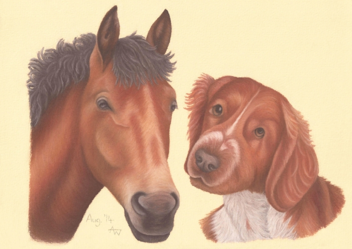 Harvey and Quinn - A3 - Soft Pastels