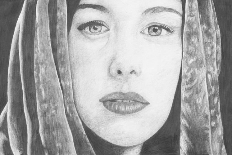 Arwen, Lord of the Rings - A4, graphite pencil
